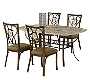 Hillsdale Furniture Brookside 5 Piece Rectangular Dining Set - H183742