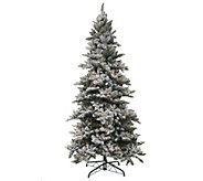 As Is BethlehemLights 7.5 Woodland Pine Tree w/ Instant Power - H204242