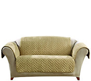 Sure Fit Sheared Faux Fur Loveseat Furniture Cover - H204342