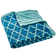 Berkshire Oversized Twin Reversible Velvet Soft Printed Blanket - H206342