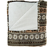 Berkshire Blanket Queen Fair Isle Reverse to Sherpa Blanket - H209042