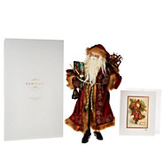 Hallmark 18.5 Heritage Santa w/ Inspiration Print and Gift Box - H209142