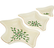 Lenox Holiday 3-piece Divided Figural Tray - H211842