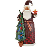Jim Shore Folklore Collection Santa w/ Tree Figurine - H212242