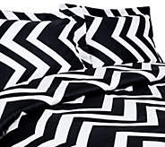 100Cotton Chevron Print Full/Queen Duvet Cover and Shams Set - H285042