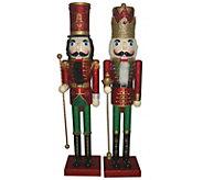 S/2 36 Metallic Christmas Nutcrackers by Santas Workshop - H289542