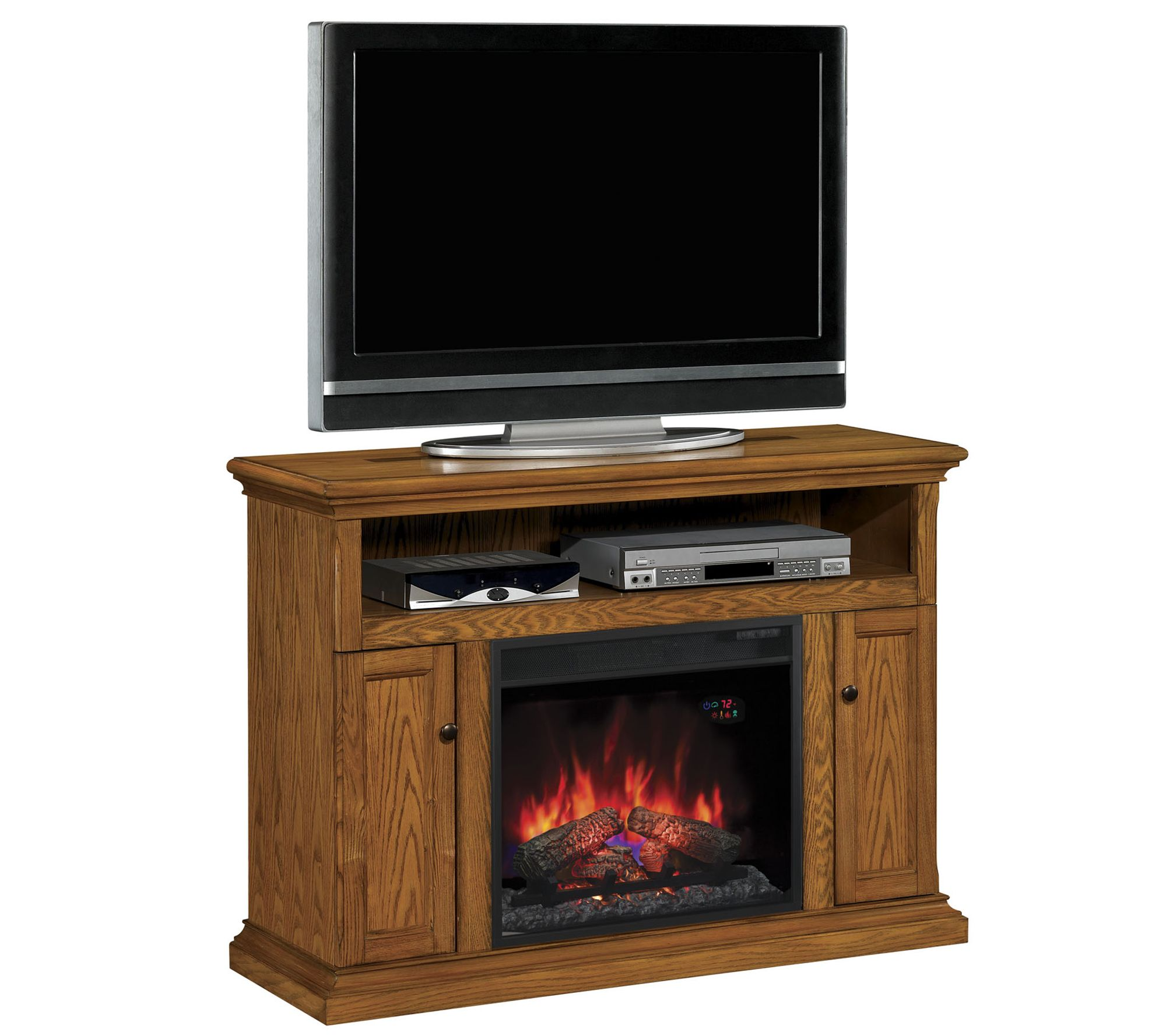 Bell'O Cannes TV Stand Infrared Electric Fireplace Heater — QVC.com