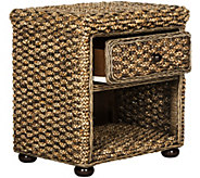 Musa Braided Wicker One-Drawer Nightstand by Valerie - H291042