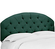Skyline Furniture Linen Tufted Arched King Headboard - H292342