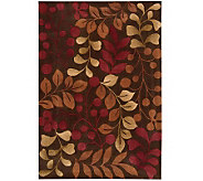 Handtufted 8 x 106 Graphic Leaves Rug by Valerie - H350042