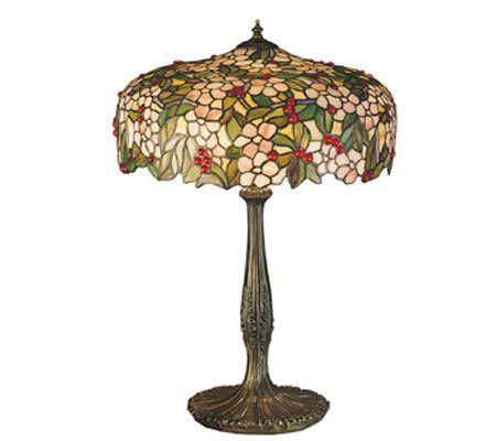 Tiffany Style 23 Cherry Tree Table Lamp QVC