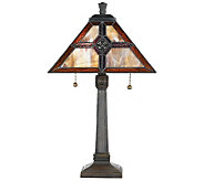 Tiffany-Style 22 Geometric Pattern Table Lamp - H159143
