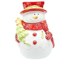 Laurie Gates Jolly Jack Holiday Snowman Jar