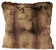 Dennis Basso Platinum 18x18 Luxe Faux Fur Pillow - H203243