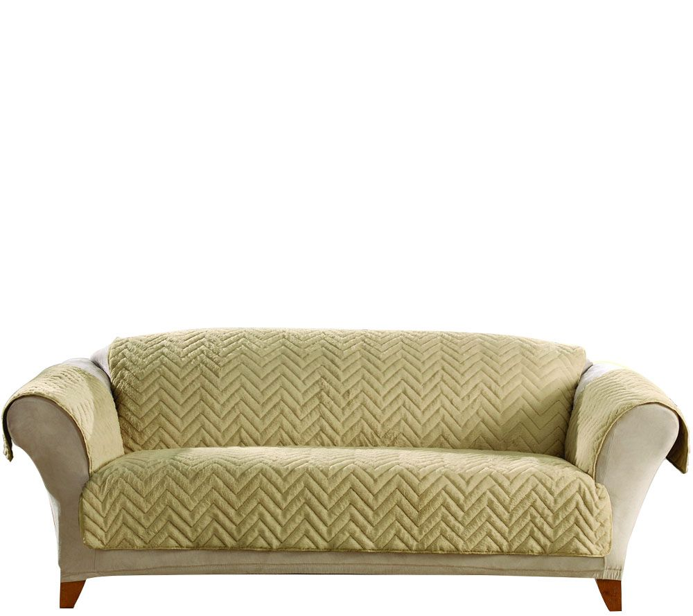 Sure Fit Sheared Faux Fur Sofa Furniture Cover - Page 1 ...
