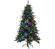 Kringle Express 7.5 Glittery Pine Tree w/ LED Color Changing Lights - H205743