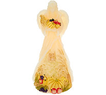"Candle Impressions 11"" Angel Flameless Candle with Harvest Scene - H205943"