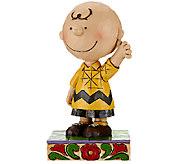 Jim Shore Peanuts 4 1/2 Good Man Charlie Brown Figurine - H206543