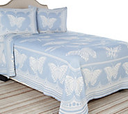 Butterfly Trail 100Cotton Jacquard Bedspread w/ Sham(s) - H206743