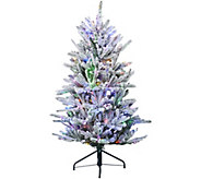 As Is Santas Best 5 Snow Flurry Tree with 7 Function LED Lights - H211043