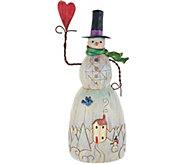 Jim Shore Folklore Collection Snowman w/ Heart Figurine - H212243
