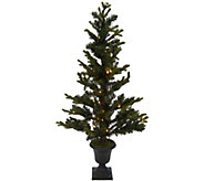As Is 42 Prelit Slim Pine Tree in Decorative Urn by Valerie - H215243