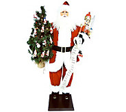 36 Santa with Nutcracker and LED Lights by Santas Workshop - H281643