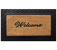 Geo Crafts Tuffcor Flat Weave Welcome Door Mat - H283843