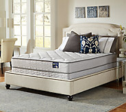 Serta Glisten Plush Queen Mattress Set w/ Spli t Foundation - H286543