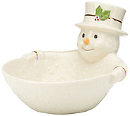 Lenox Happy Holly Days Snowman Candy Dish - H286843
