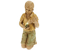 Plow & Hearth Boy with Flashlight Statue - H287043
