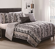 Victoria Classics Asian Botanical King 5-PieceQuilt Set - H288243