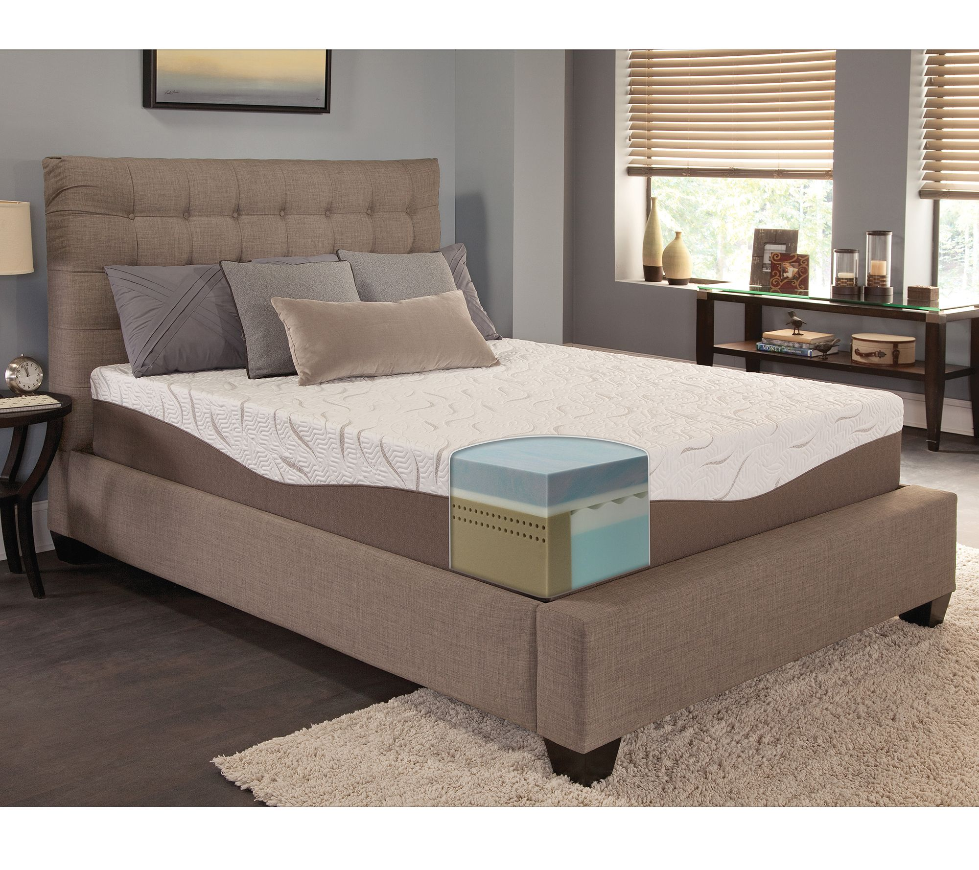 energize 12 gel memory foam twin mattress. Black Bedroom Furniture Sets. Home Design Ideas