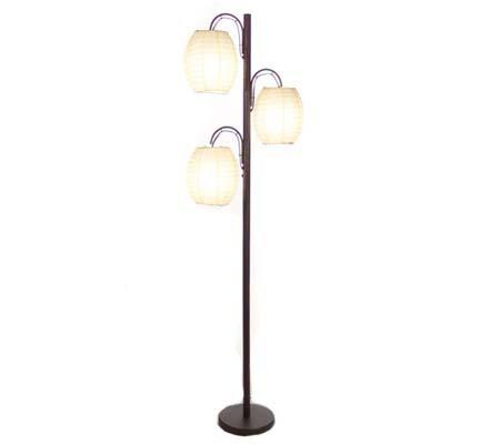 Asian inspired track tree floor lamp qvccom for Track tree floor lamp white