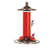Copper and Glass Hanging Hummingbird Feeder - H112244