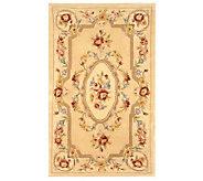 Royal Palace Floral Savonnerie 3 x 5 HandmadeWoolRug - H165744