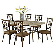 Hillsdale Furniture Brookside 7 Piece Rectangular Dining Set - H183744
