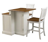 Home Styles Woodbridge Two Tier Island & Two Stools - H187244