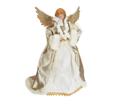 "16"" Angel with Glittered Wings by Valerie"