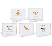 ED On Air Set of 25 Animal Pun Notecards by Ellen DeGeneres - H204144