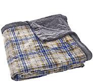 Berkshire Oversized Queen Reversible Velvet Soft Printed Blanket - H206344
