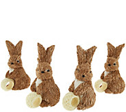 Set of 4 Bunny Napkin Rings by Valerie - H207644