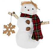Hallmark Snowman Figurine with Snowflake - H208744