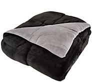 Berkshire Blanket Twin Reversible Solid Color Filled Blanket - H209044