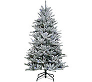 As Is Santas Best 6.5 Snow Flurry Tree with 7 Function LED Lights - H211044