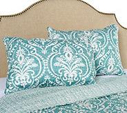 Verona 100Cotton Damask Print Set of 2 Pillow Shams - H212744