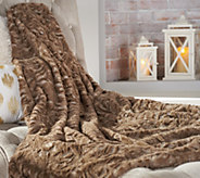 Dennis Basso 50 x 60 Tonal Faux Fur Throw with Gift Box - H213144