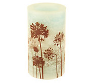 Candle Impressions 6 Marbleized Flameless Floral Candle - H284544