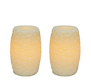 Candle Impressions S/2 6 Scroll Hurriane Flameless Candles - H284644