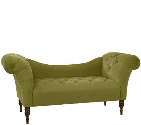 Skyline Furniture Tufted Velvet Chaise Lounge